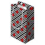 #white - black striped kiss small gift bag