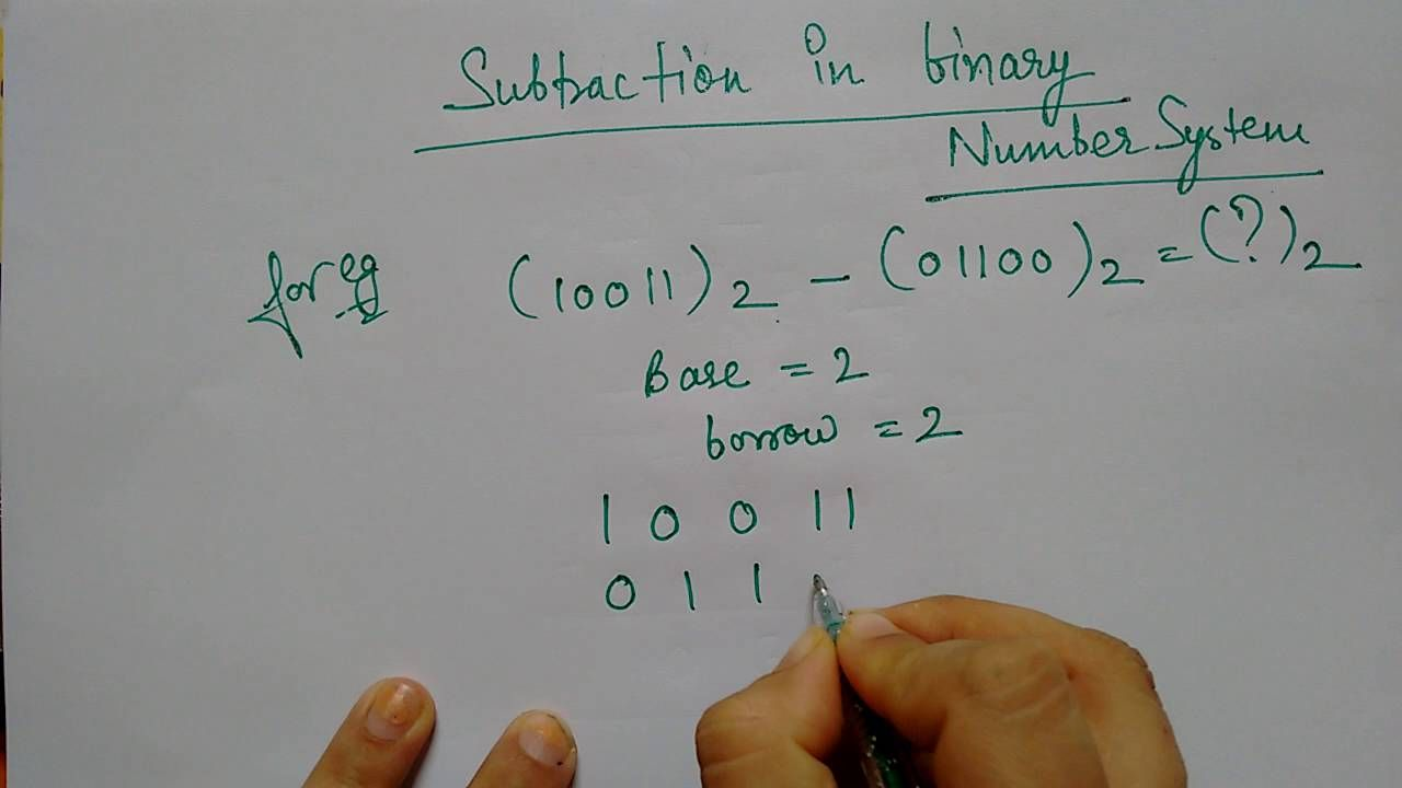 Subtracting Binary Numbers Binary Number Subtraction Math Adding and subtracting binary numbers