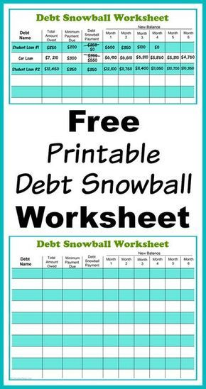 Free Printable Debt Snowball Worksheet- Pay Down Your Debt! Debt - debt calculator spreadsheet