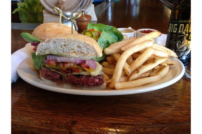 18 Half Pound Niman Ranch Cheeseburger Mustards Grill Napa Calif From