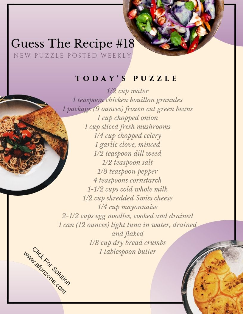 What S Cooking Today Puzzle Guess The Recipe Puzzle Food Eat Cooking Kitchen Dinner Tuna Egg Noodles Recipes Food Cooking