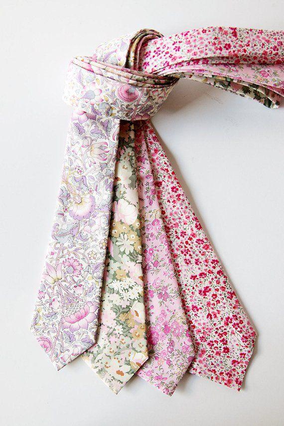 aa0b16b66151 Pink skinny tie, Liberty of London tie, custom pink tie, YOU CHOOSE COLOR