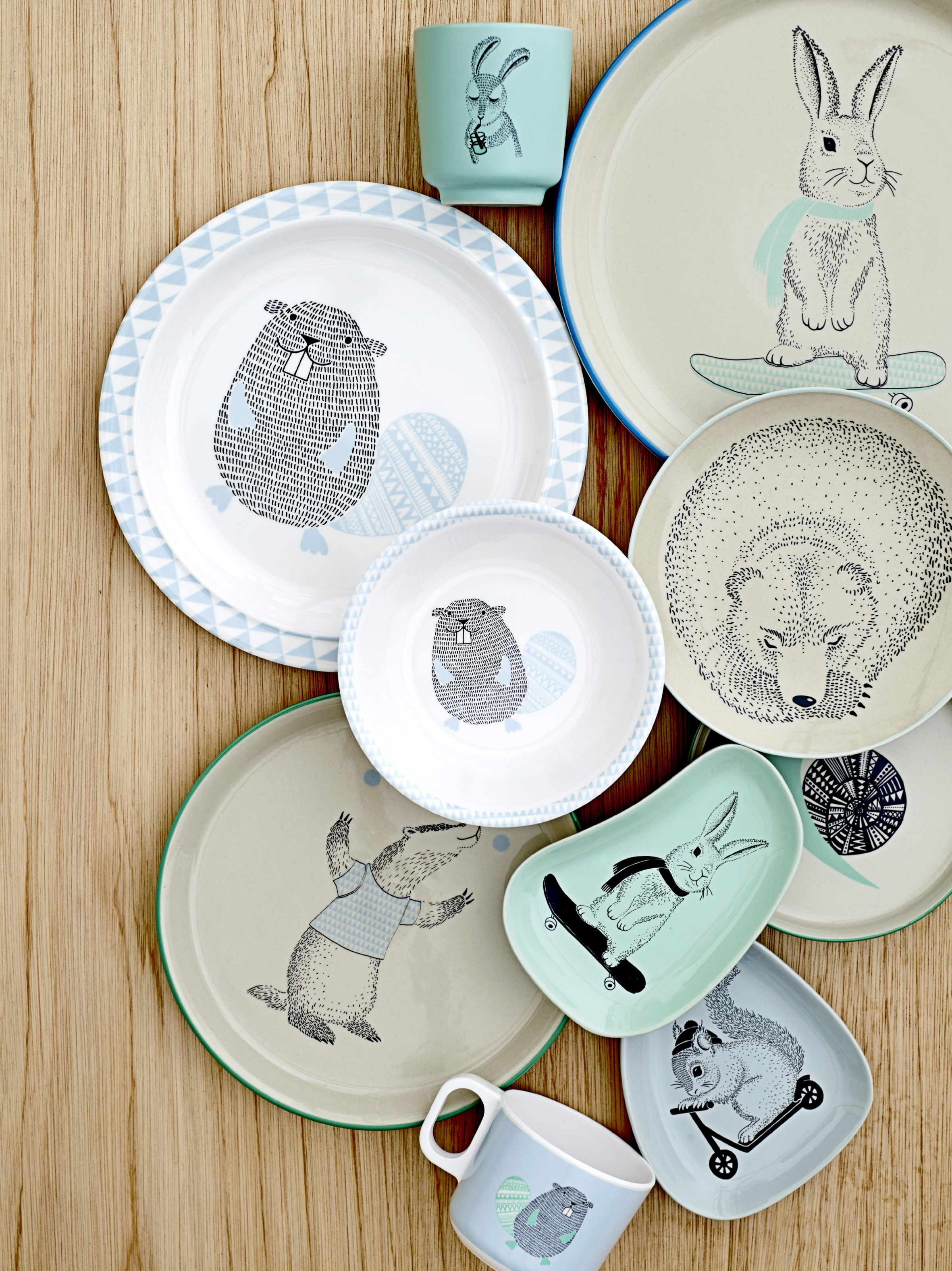 Divertidos y originales platos y tazas para ni os - Dibujos infantiles originales ...