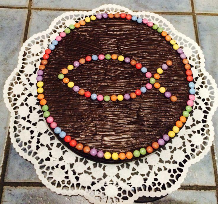 Marmorkuchen zur Taufe mit Smartie Fisch - MS   - Kommunion Tischdeko -