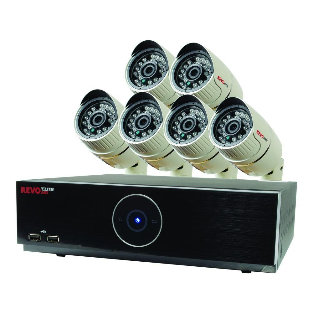 Revo Elite HD 8-Channel 1080p 2TB NVR Surveillance System with 6 2.1 Megapixel HD Cameras