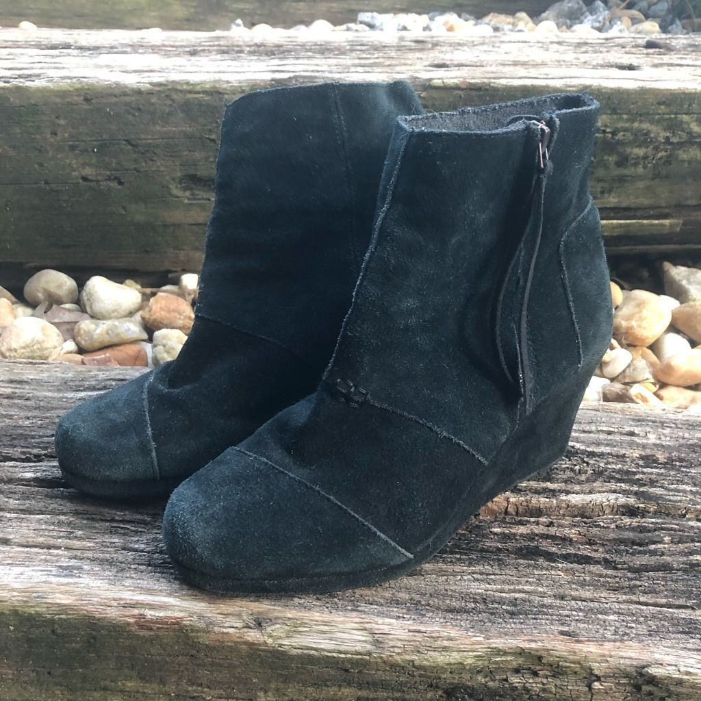 Toms Shoes | Toms Wedge Boots Black Suede Size 7.5 Womens | Color: Black | Size: 7.5 #tomwedges Toms Shoes | Toms Wedge Boots Black Suede Size 7.5 Womens | Color: Black | Size: 7.5 #tomwedges Toms Shoes | Toms Wedge Boots Black Suede Size 7.5 Womens | Color: Black | Size: 7.5 #tomwedges Toms Shoes | Toms Wedge Boots Black Suede Size 7.5 Womens | Color: Black | Size: 7.5 #tomwedges