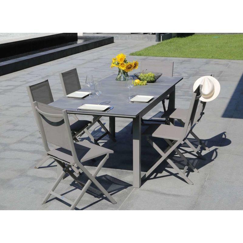 Table De Jardin Fermob Monceau Rectangulaire Gris Orage 6