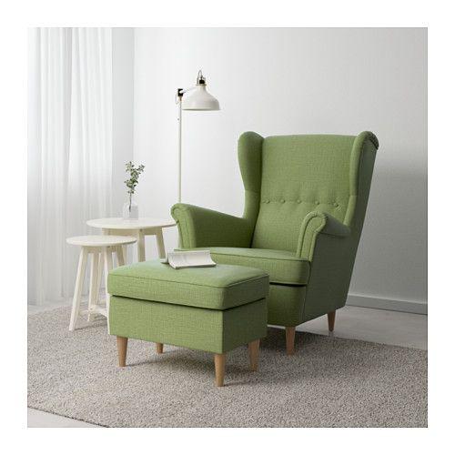 ikea strandmon footstool works as an extra seat or footstool lounge pinterest ikea ikea. Black Bedroom Furniture Sets. Home Design Ideas