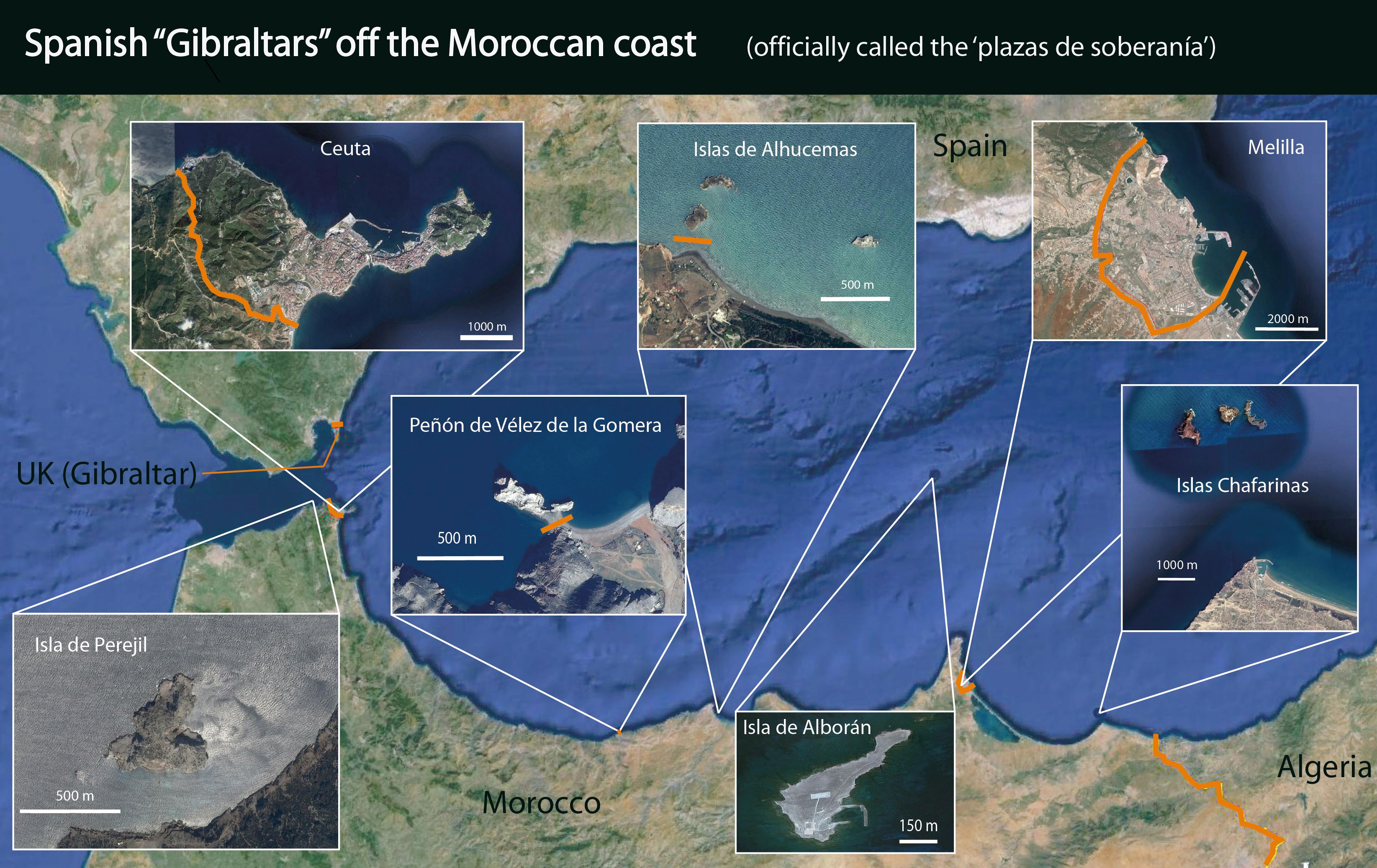Outposts Of Spain Around The Coast Of Morocco Funny Jokes Coast Morocco