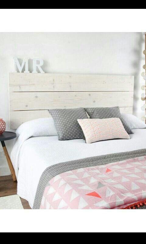 Cabecero de madera tablas headboard decoraci n de for Casa blanca muebles y decoracion