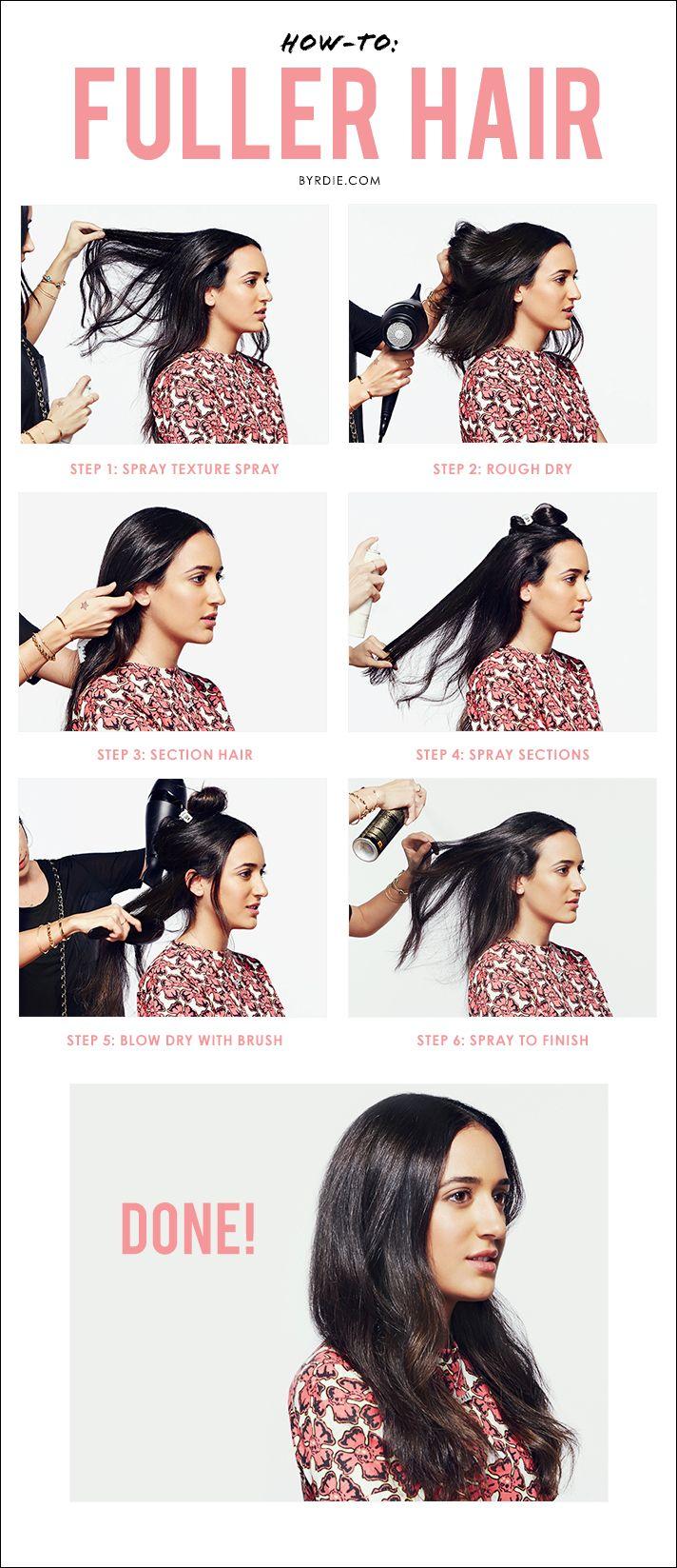 How To Get Fuller Hair In 6 Easy Steps