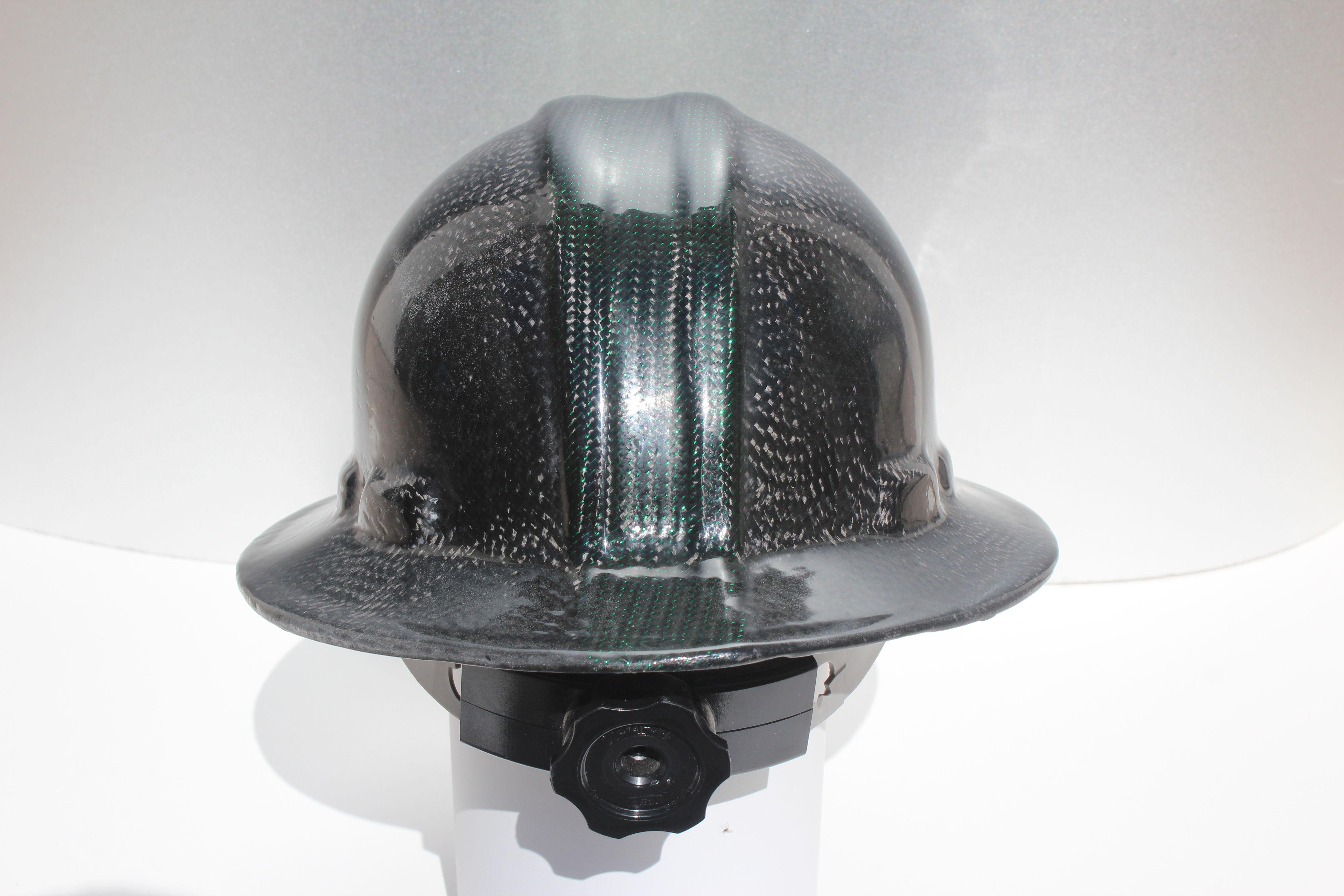 Back Of Mi State Spartans Carbon Fiber Hard Hat Carbon Fiber