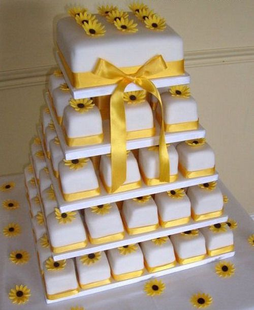 Sunflower Wedding Cake Ideas: WEDDING CAKE: Sunflower Wedding Cakes