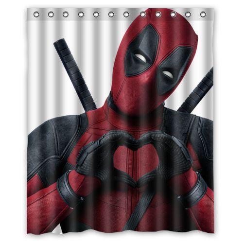 Deadpool Loves Shower Curtain Limited Edition Marvel Comics
