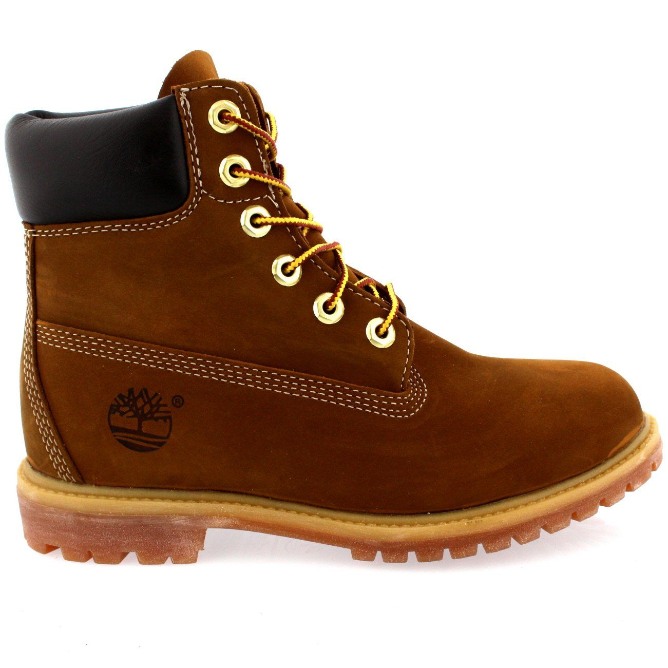 """325283b5434b Womens Timberland 6"""" Premium Rust Leather Original Lace Up Ankle Boots Rust  5 -- Click on the image for additional details. (This is an affiliate link)    ..."""