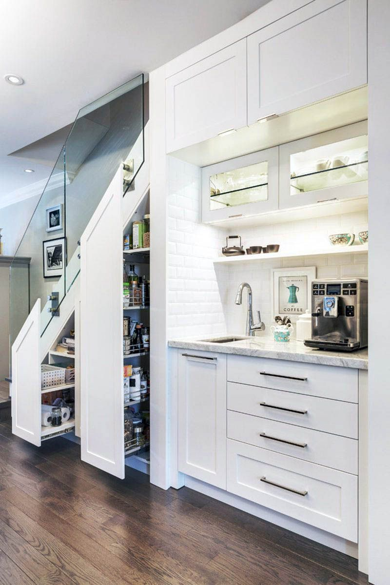 The Best And Easiest Kitchen Pantry Cabinet Rona To Inspire You Kitchen Under Stairs Stairs In Kitchen Kitchen Design Small