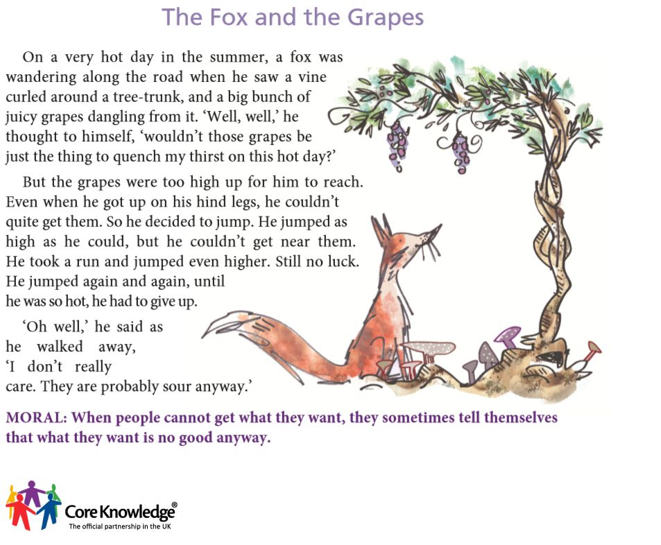 aesop's fables the fox and the grapes - Google Search | Maureen ...