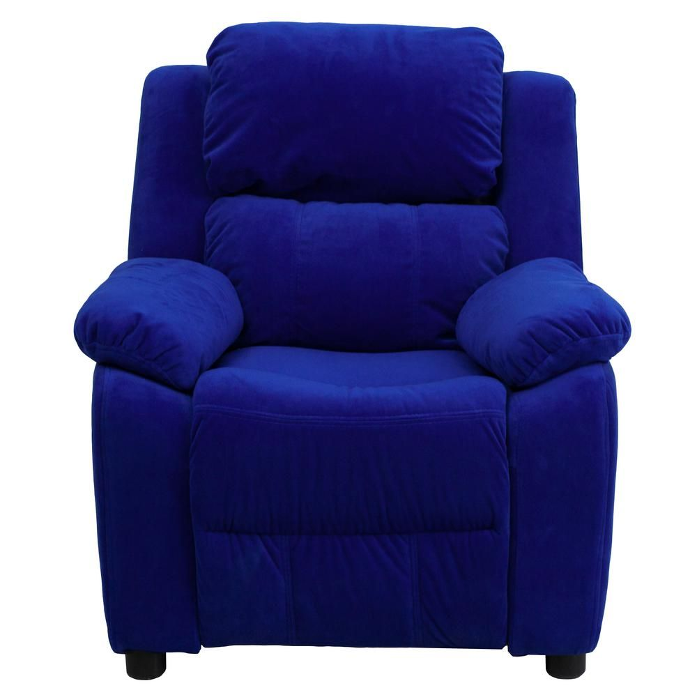 Best Flash Furniture Deluxe Padded Contemporary Blue Microfiber 400 x 300