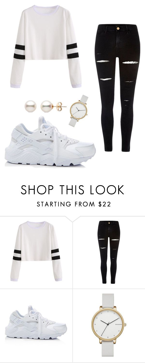 """""""Casual street wear"""" by kkcamacho ❤ liked on Polyvore featuring River Island, NIKE and Skagen"""