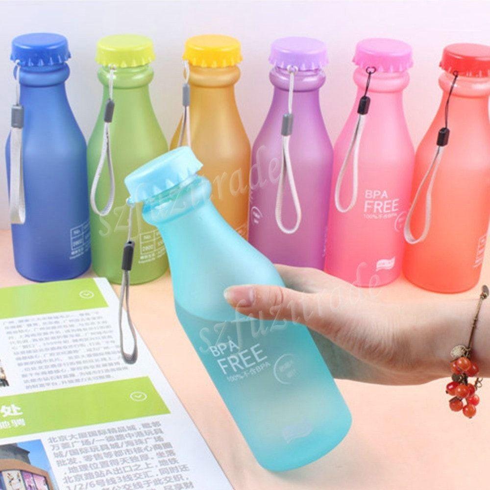 550ml Candy Colord Plastic Water Bottle Bpa Free Med Billeder Flaske Accessories Maerke