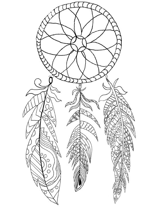 Free Printable Dream Catcher Coloring Page Dream Catcher
