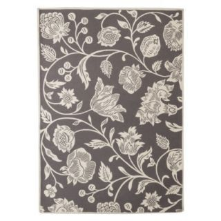 Threshold Indoor Outdoor Floral Area Rug Gray 7x10 Floral Area