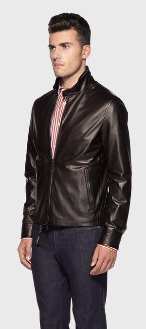 cc4bcfcc35 Ermenegildo Zegna Leather Jacket   Men Fashion   Mens fashion:__cat ...