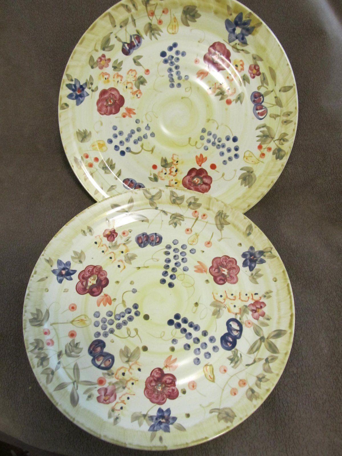 Alco Industries cranbury nj floral Dinner Plates made in china & Alco Industries cranbury nj floral Dinner Plates 11\