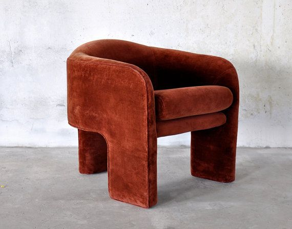 Vintage Tripod Club Chair Attributed To Vladimir Kagan For Weiman Preview