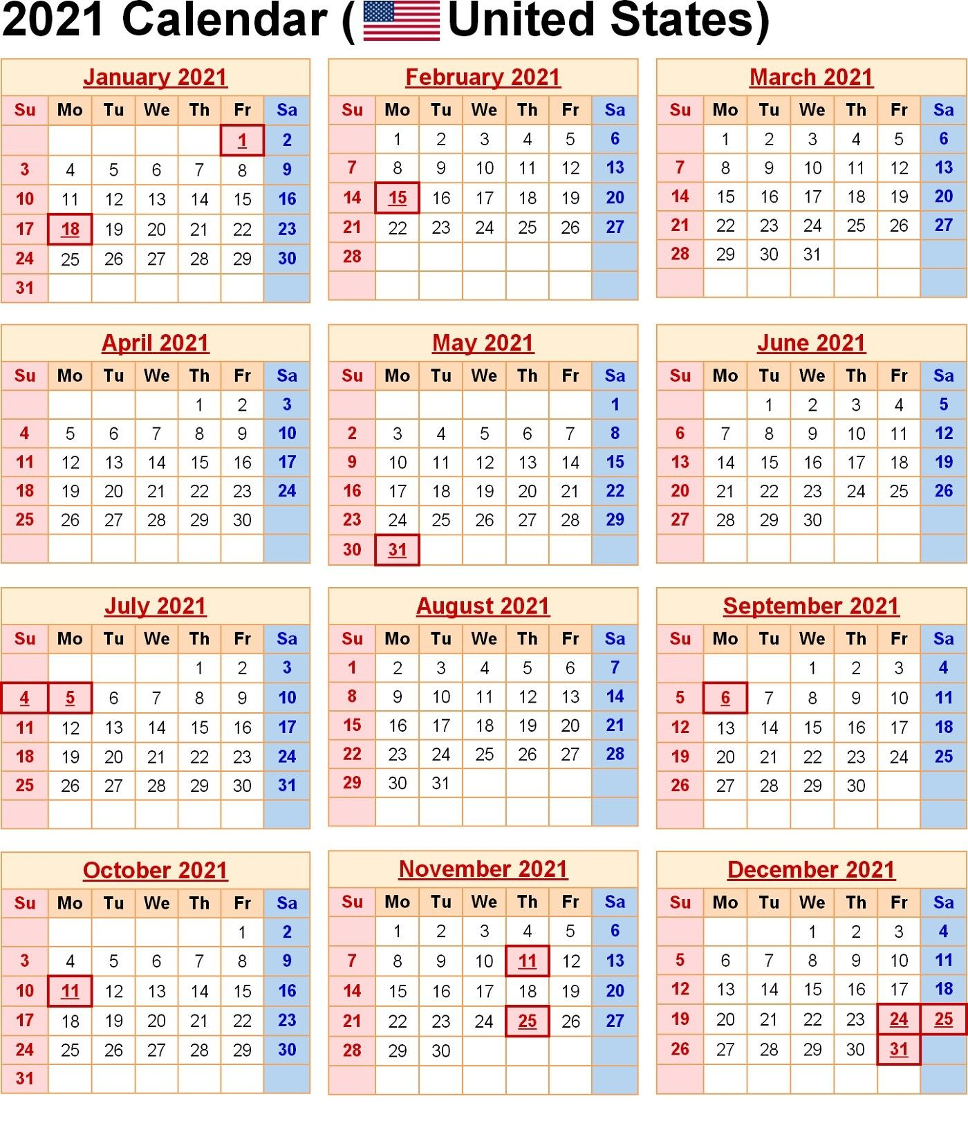 Yearly Calendar Template 2021 Free For Colouring Your Day Welcome In Order To Our Weblog In T In 2020 Printable Calendar Template Calendar Template Holiday Calendar