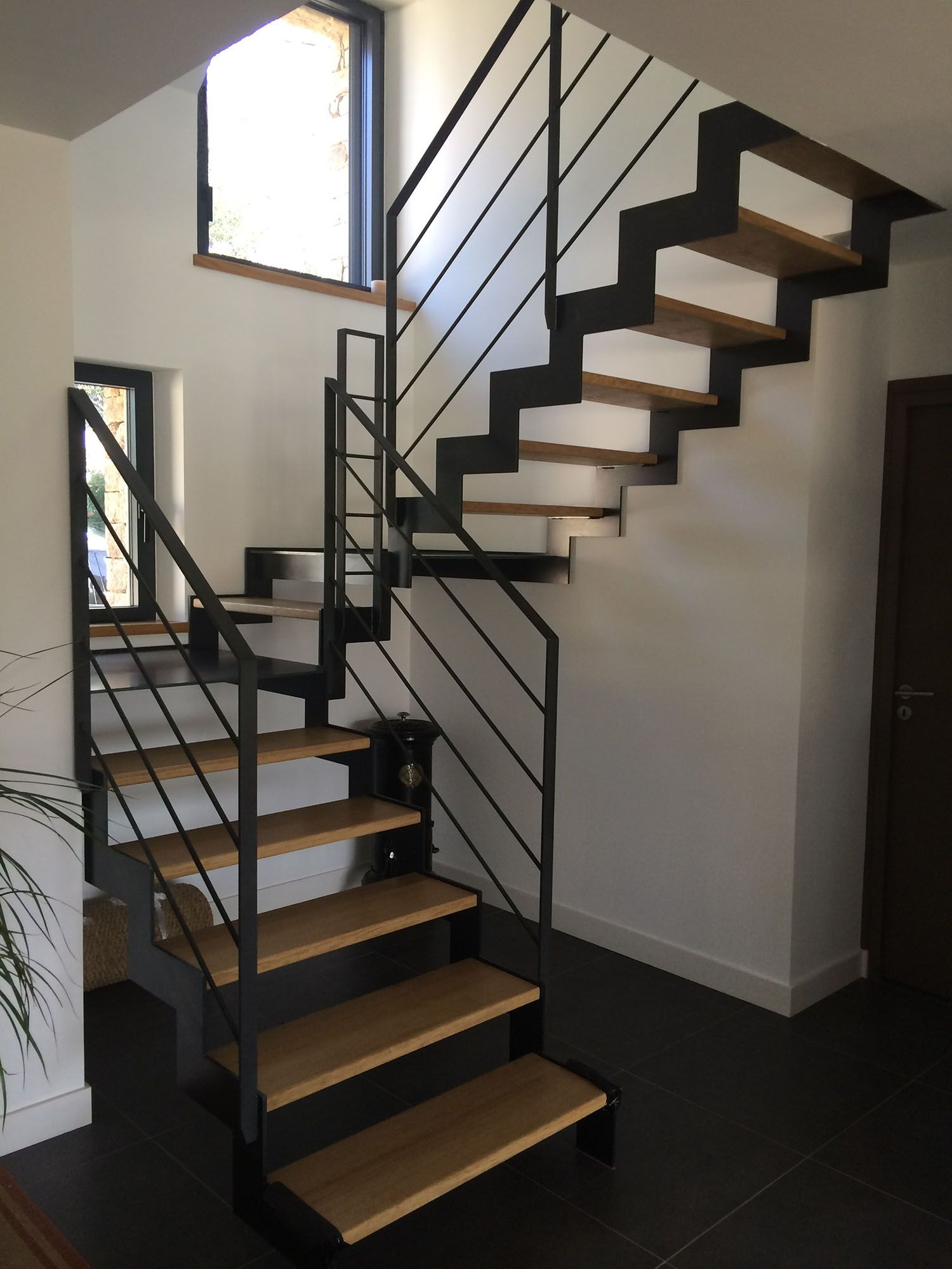 Escalier Metal Bois Escaliers Pinterest Staircases Black