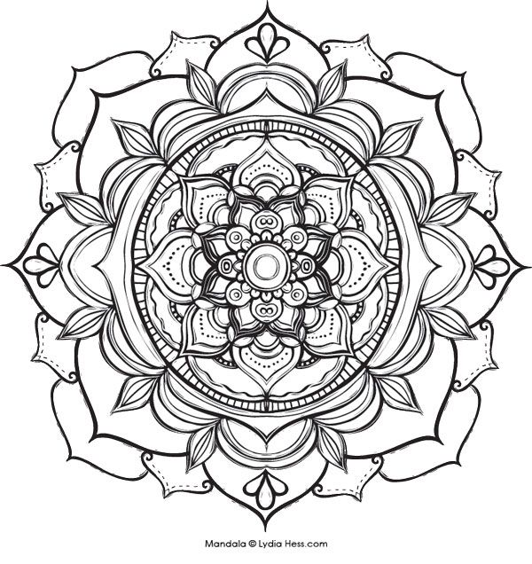 Pin On Mandalas And Pretties To Color