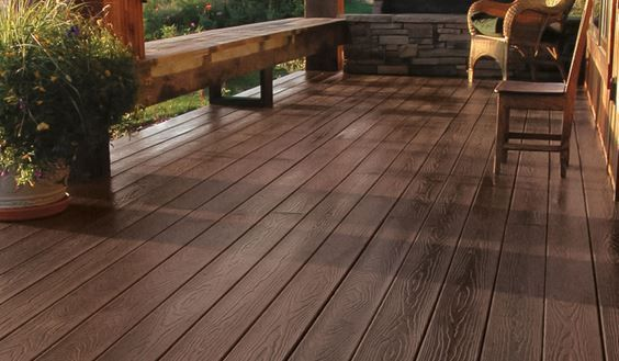 Tamko Evergrain Composite Decking Weathered Wood Color