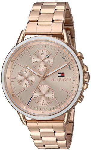 733af661 Tommy Hilfiger Women's 'Sport' Quartz Gold Casual Watch(Model: 1781788)