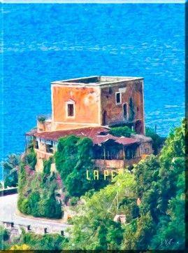 "Ruins of the restaurant ""La Pergola"" (Italy Amalfi Coast"