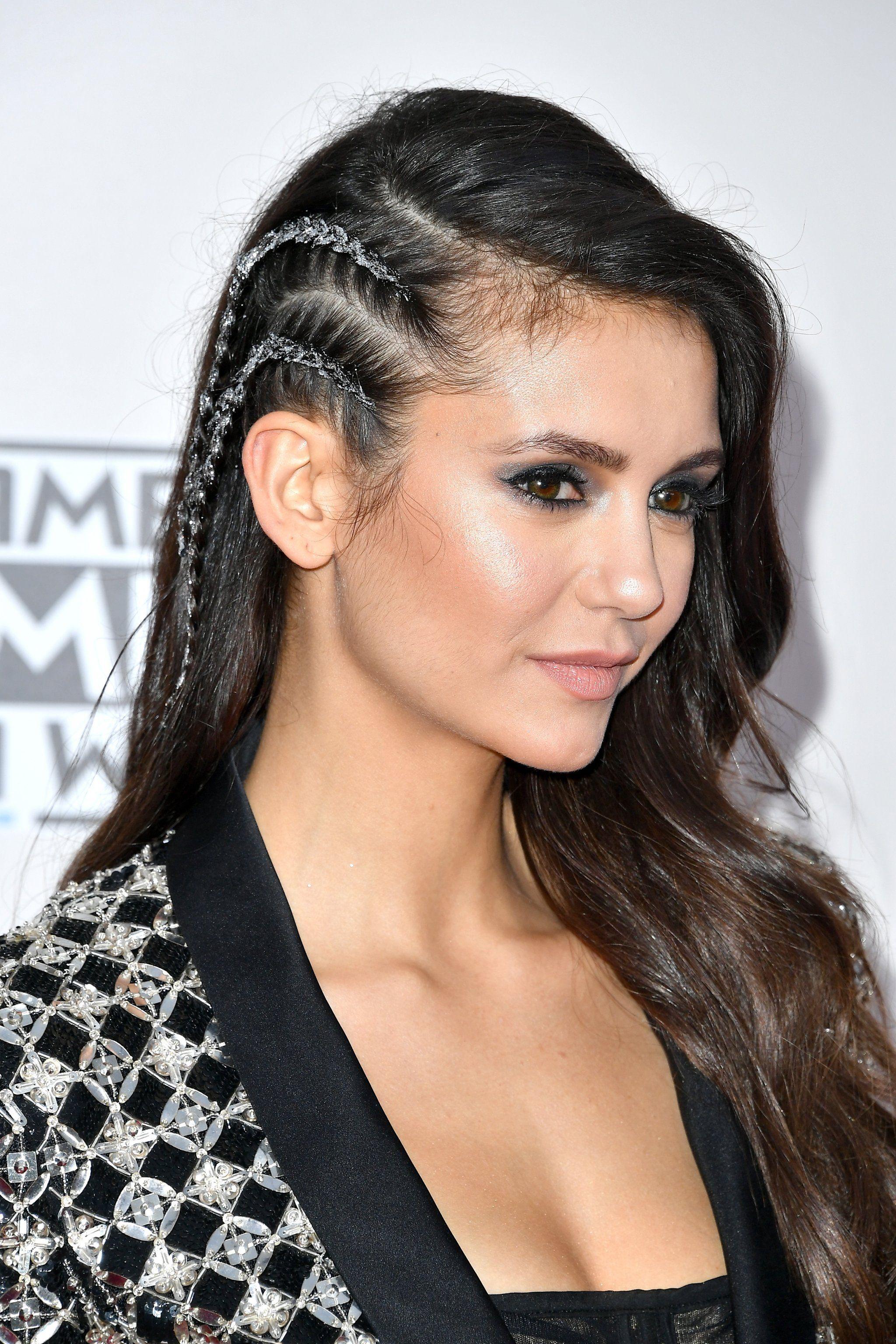 Nina Dobrev Just Made Glitter Undercut Braids Happen at the AMAs