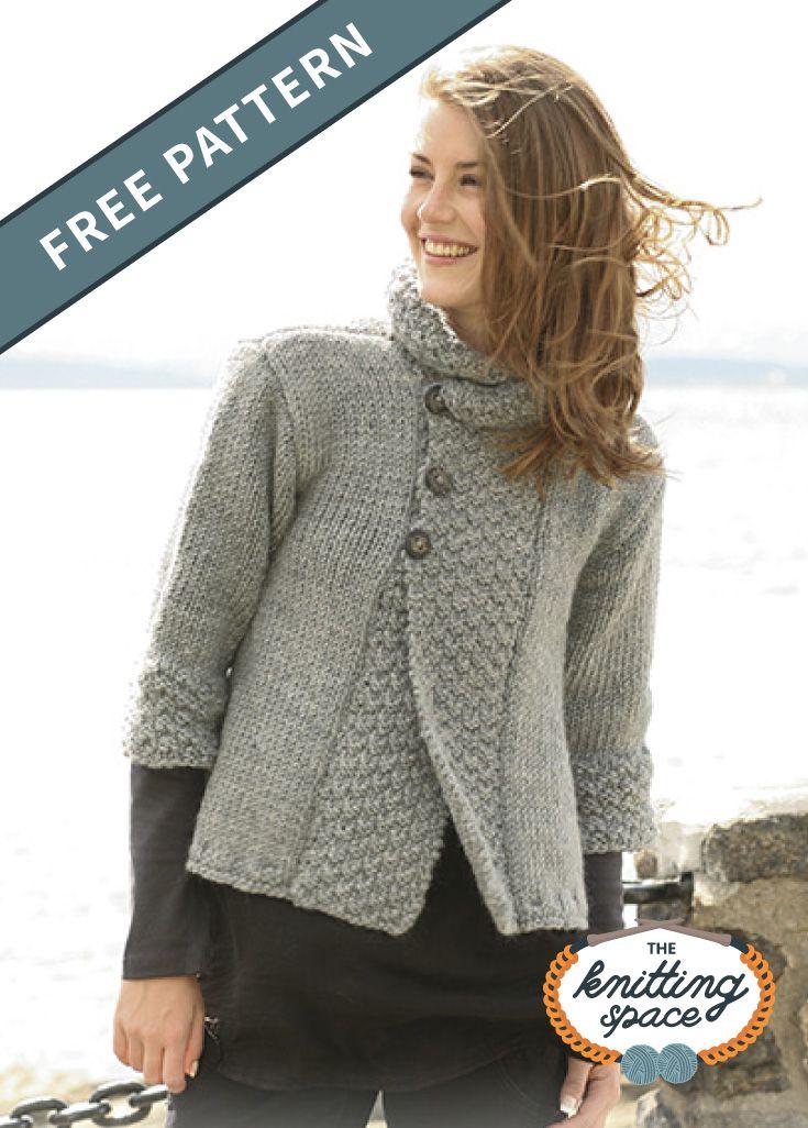 Silver Haze Knitted Jacket FREE Knitting Pattern in 2020 ...