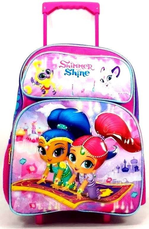 d68f1505d77d Backpacks 57917  Nickelodeon Shimmer And Shine 16 Canvas Pink And Purple  School Rolling Backpack -  BUY IT NOW ONLY   33.95 on eBay!