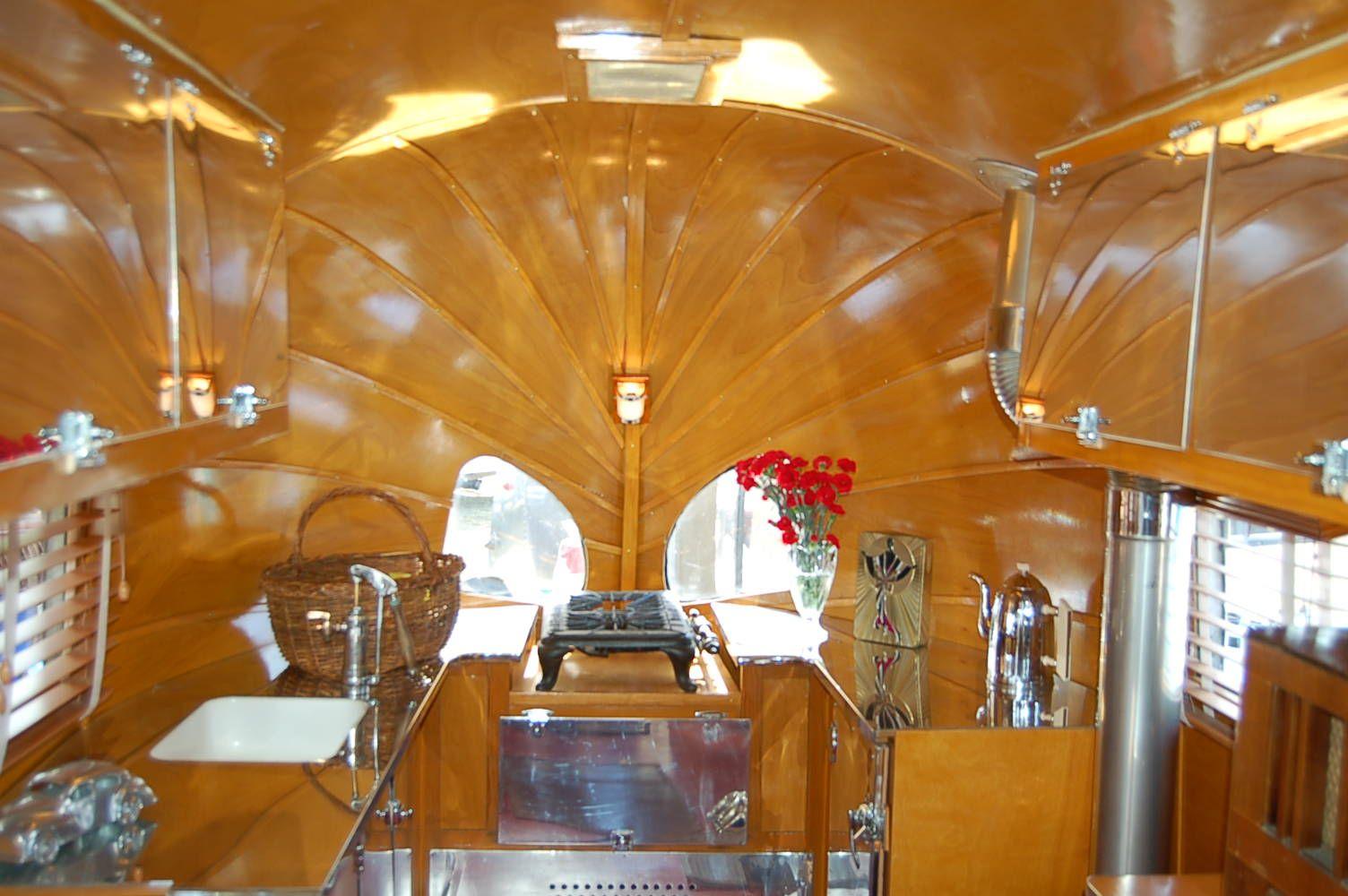 1940 Airstream Trailers Interior Style | Restored 1936