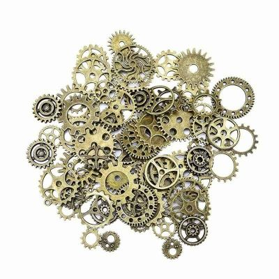 Steampunk Gears and Cogs Bulk 100g for Craft Jewelry Accessories - bulk halloween decorations