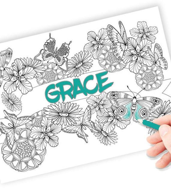 A Customized Name Coloring Page Choose Your Name To Add To The