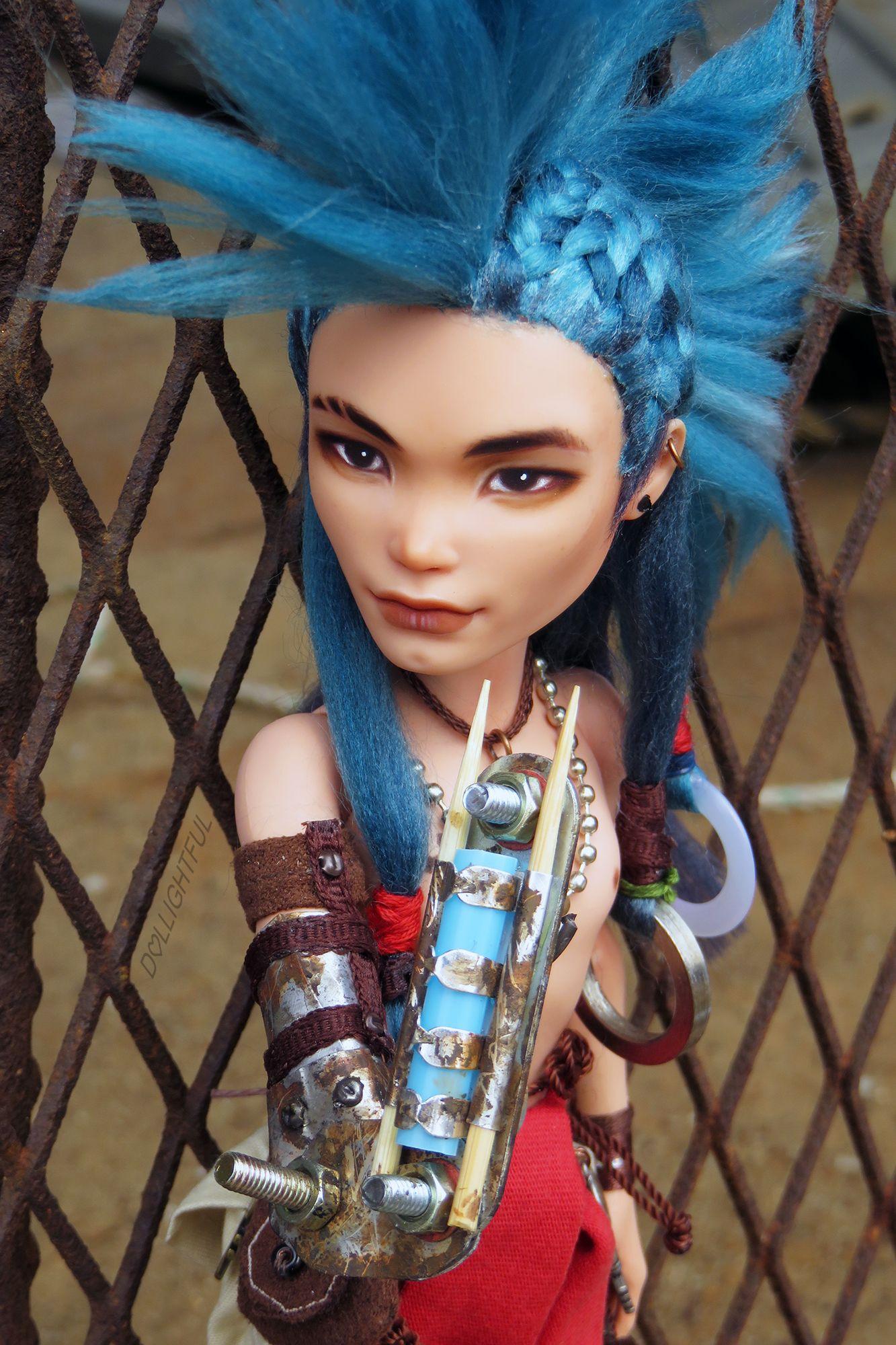 Ty Tanium, custom Monster High Deuce custom ooak