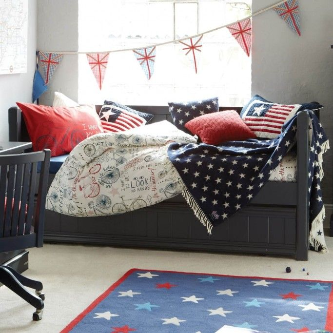 Charterhouse Childs Wooden Day Bed Childs Blue Day Bed
