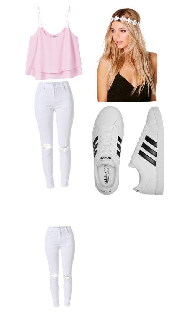 """""""School oufit"""" by mikayla714 on Polyvore featuring MANGO, adidas and Boohoo"""