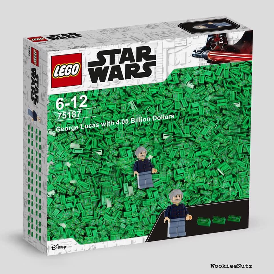 George Lucas With 4 05 Billion Dollars I Need This Lego Set In My Life Right Now Funny Star Wars Memes Star Wars Humor Star Wars Memes
