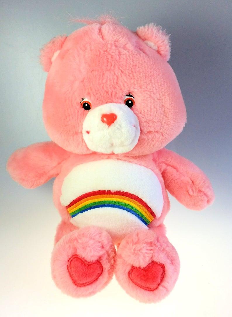 Cheer Care Bear Rainbow Pink 13 Inch Talking Stuffed