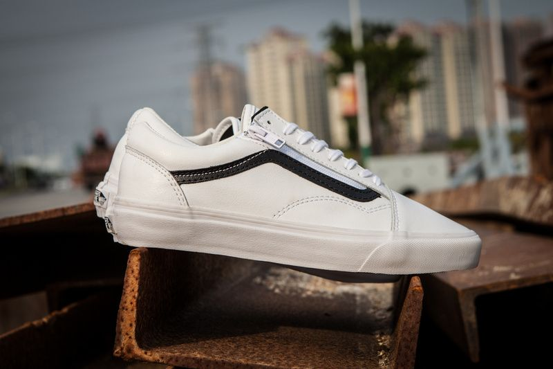 b575b83e05 Vulcan True Vulnerable Vans old skool ZIP First Cowhide Classic Zipper  Series Couple Leisure Skateboard Shoes White ZD-02 36 36.5 37 38 38.5 39 40  40.5 41 ...