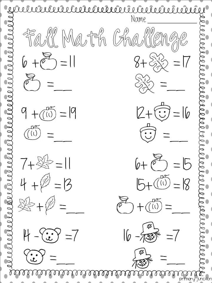 Slide6 Jpg 720 960 Pixels Fall Math Fun Math Worksheets Kids Math Worksheets