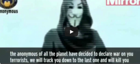 """Online """"Hacktivist"""" Group Anonymous Has Chilling Message for Islamic Terrorists.  GO GET 'EM ANONYMOUS!"""