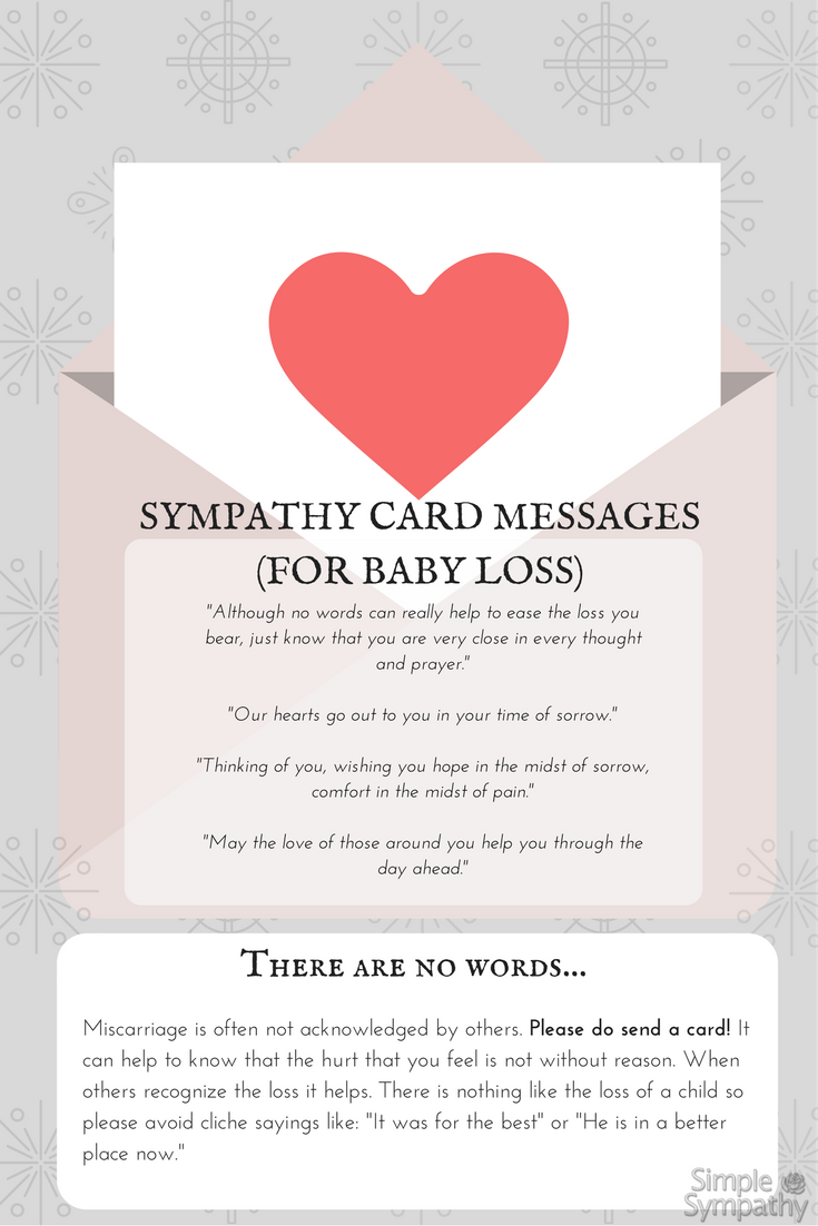 miscarriage sympathy cards and ideas for what to write and say at simplesympathycom